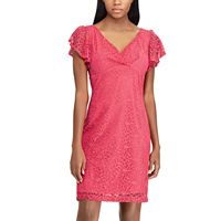 Women's Chaps Lace Flutter Sleeve Dress