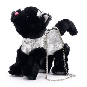 Girls Capelli Black Kitty Cat Purse