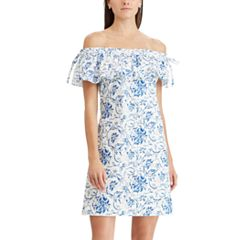 Women's Chaps Floral Ruffle Off-the-Shoulder Dress