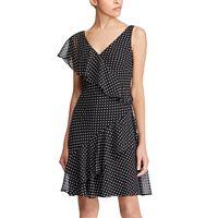 Women's Chaps Polka-Dot Ruffled Sheath Dress