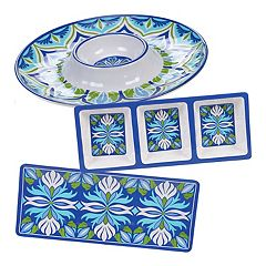 Certified International Morocco 3-piece Melamine Hostess Set