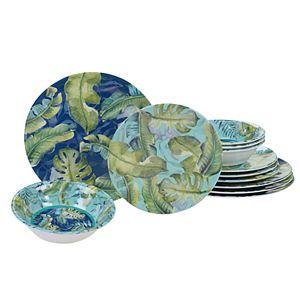 Certified International Tropicana 12-piece Melamine Dinnerware Set
