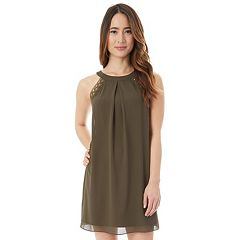 Juniors' IZ Byer High Neck Shift Dress