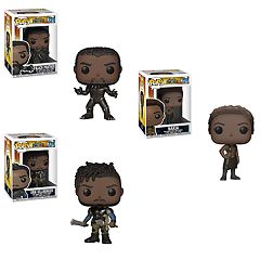 Funko POP! Movies Black Panther Collectors Set: Black Panther, Nakia & Kimonger