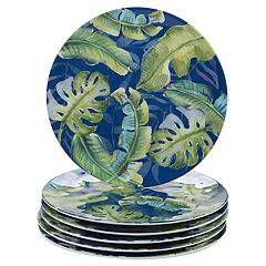 Certified International Tropicana 6-piece Melamine Dinner Plate Set