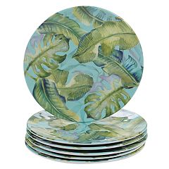 Certified International Tropicana 6-piece Melamine Salad Plate Set
