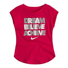 Toddler Girl 'Dream Believe Achieve' Graphic Top