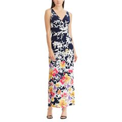 Petite Chaps Floral Surplice Maxi Dress