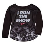 "Toddler Girl Nike ""I Run The Show"" Dri-FIT Top"