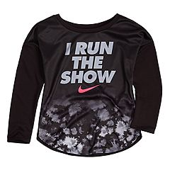 Toddler Girl Nike 'I Run The Show' Dri-FIT Top