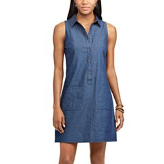 Women's Chaps Chambray Shirt Dress