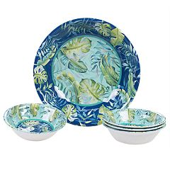 Certified International Tropicana 5-piece Melamine Salad Serving Set