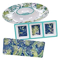 Certified International Tropicana 3-piece Melamine Hostess Set
