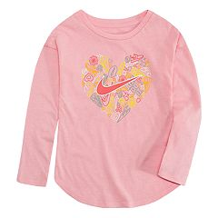 Toddler Girl Nike Doodle Heart Graphic Top