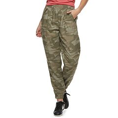 Juniors' SO® Zip-Pocket Twill Low-Rise Jogger Pants