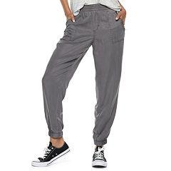 Juniors' SO® Zip-Pocket Twill Low-Rise Jogger Pants