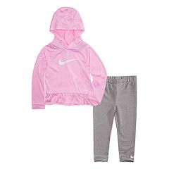 Toddler Girl Nike Dri-FIT Ruffle Hoodie and Leggings 2-Piece Set