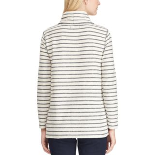Petite Chaps Striped Cowlneck Top