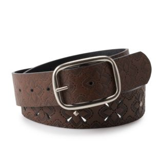 Women's & Plus Size Relic Perforated & Studded Reversible Belt