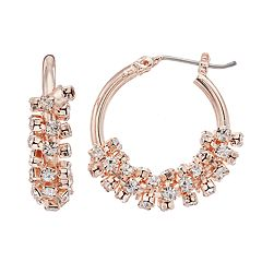 Simply Vera Vera Wang Simulated Crystal Hoop Earrings