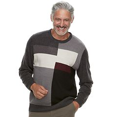 Men's Haggar Classic-Fit Colorblock Fine-Gauge Crewneck Sweater