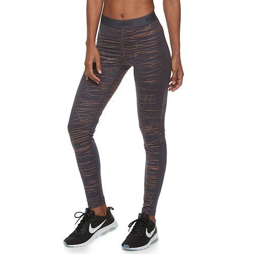 Women s Nike Victory Metallic Training Mid-Rise Leggings bade9af5c
