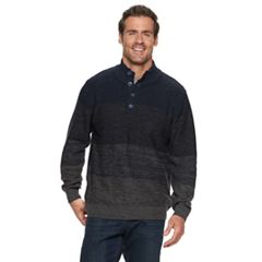 Men's Haggar Regular-Fit 7GG Colorblock Marled Mockneck Sweater