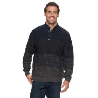 Men's Haggar Regular-Fit 7GG Colorblock Marled Mockneck Sweater