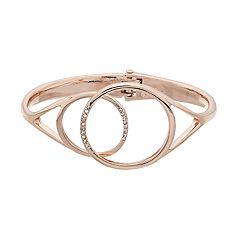 Simply Vera Vera Wang Circle Hinged Cuff Bracelet