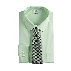 dadc13a0194 Men s Croft   Barrow® Classic-Fit Stretch-Collar Dress Shirt and Patterned  Tie
