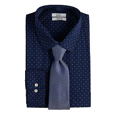 c428ebb12b6 Men s Croft   Barrow® Classic-Fit Stretch-Collar Dress Shirt and Patterned  Tie
