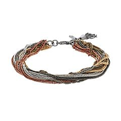 Simply Vera Vera Wang Multi Tone Multi Strand Chain Bracelet