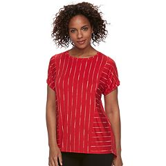 Women's Apt. 9® Abstract Ribbed Tee