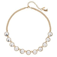 Simply Vera Vera Wang Round Faceted Stones Necklace