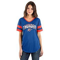 Women's Oklahoma City Thunder Mesh V-Neck Tee