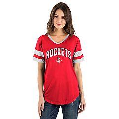 Women's Houston Rockets Mesh V-Neck Tee