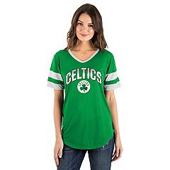 Women's Boston Celtics Mesh V-Neck Tee