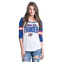 Women's Oklahoma City Thunder Slub Jersey Striped Tee