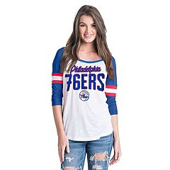 Women's Philadelphia 76ers Slub Jersey Striped Tee