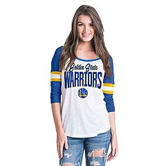 Women's Golden State Warriors Slub Jersey Striped Tee
