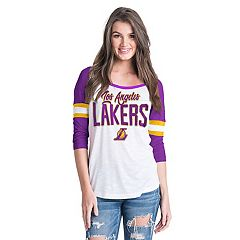 Women's Los Angeles Lakers Slub Jersey Striped Tee