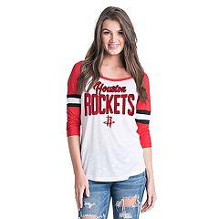 Women's Houston Rockets Slub Jersey Striped Tee