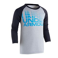 Toddler Boy Under Armour Wordmark Logo Raglan Top