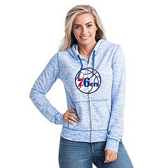 Women's Philadelphia 76ers French Terry Space-Dyed Full-Zip Hoodie