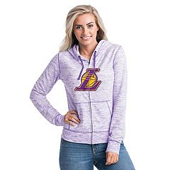 Women's Los Angeles Lakers French Terry Space-Dyed Full-Zip Hoodie