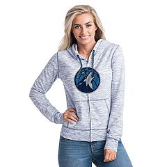Women's Minnesota Timberwolves French Terry Space-Dyed Full-Zip Hoodie