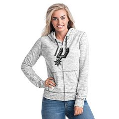 Women's San Antonio Spurs French Terry Space-Dyed Full-Zip Hoodie