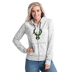Women's Milwaukee Bucks French Terry Space-Dyed Full-Zip Hoodie