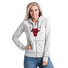 Women's Chicago Bulls French Terry Space-Dyed Full-Zip Hoodie
