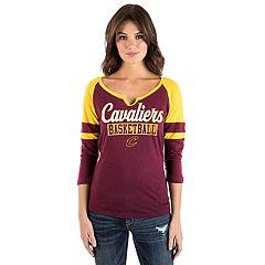 Women's Cleveland Cavaliers Slub Jersey Raglan Tee